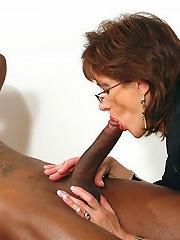 Milfs share black cock
